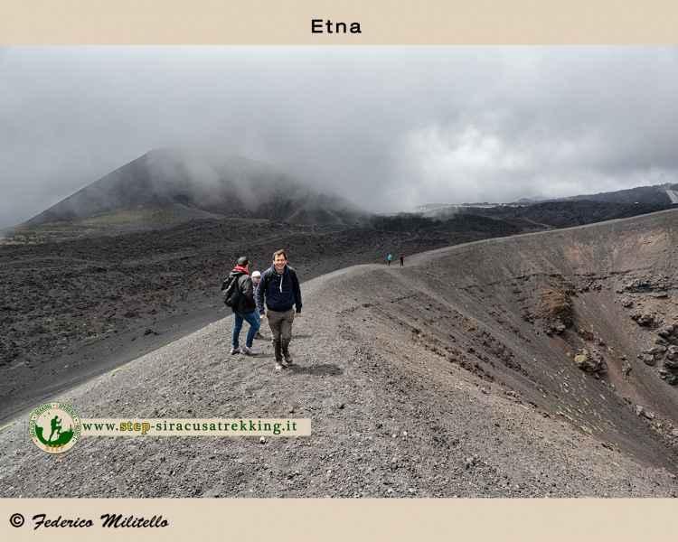 Percorso cratere Etna