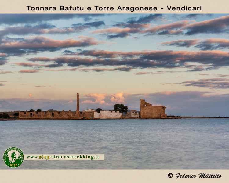 Tonnara bafutu and Aragonese tower